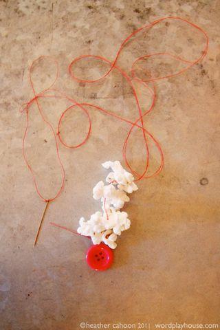 Popcorn-string