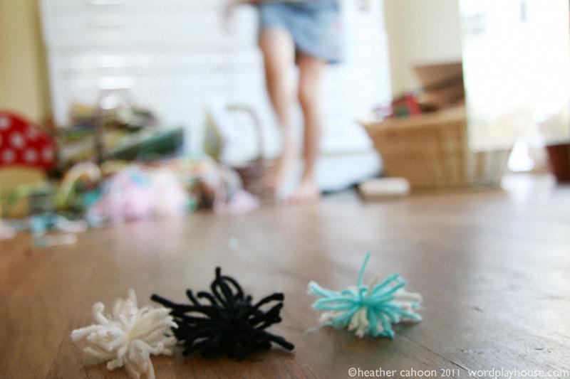 Pom-poms-handmade