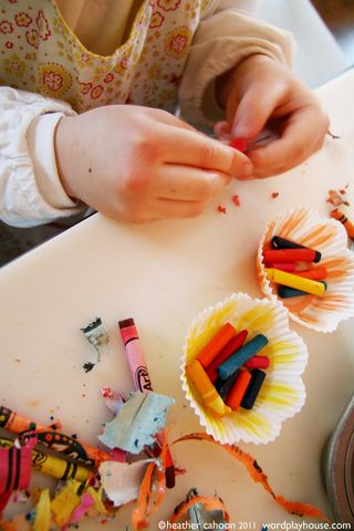 Girl-unwrapping-crayons