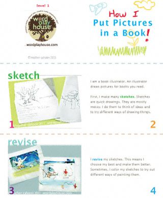 How-a-book-is-illustrated-printable-page-1-level-1