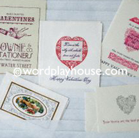 Letterpress valentine collection