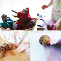Make acorn fairies