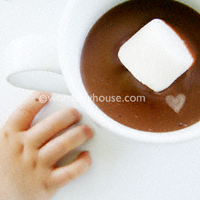 Hot cocoa pudding