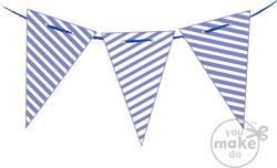 Periwinkle-and-white-pennant-flags