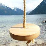 Round wood swing