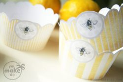 Cupcake-wrappers-sweet-bee-party