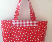 Oil cloth tote