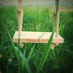 Handmade wood swing