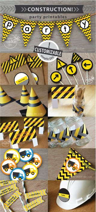 Construction-party-printables
